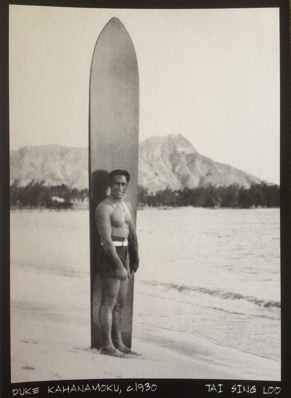 Duke Kahanamoku at Waikiki Beach, circa 1930