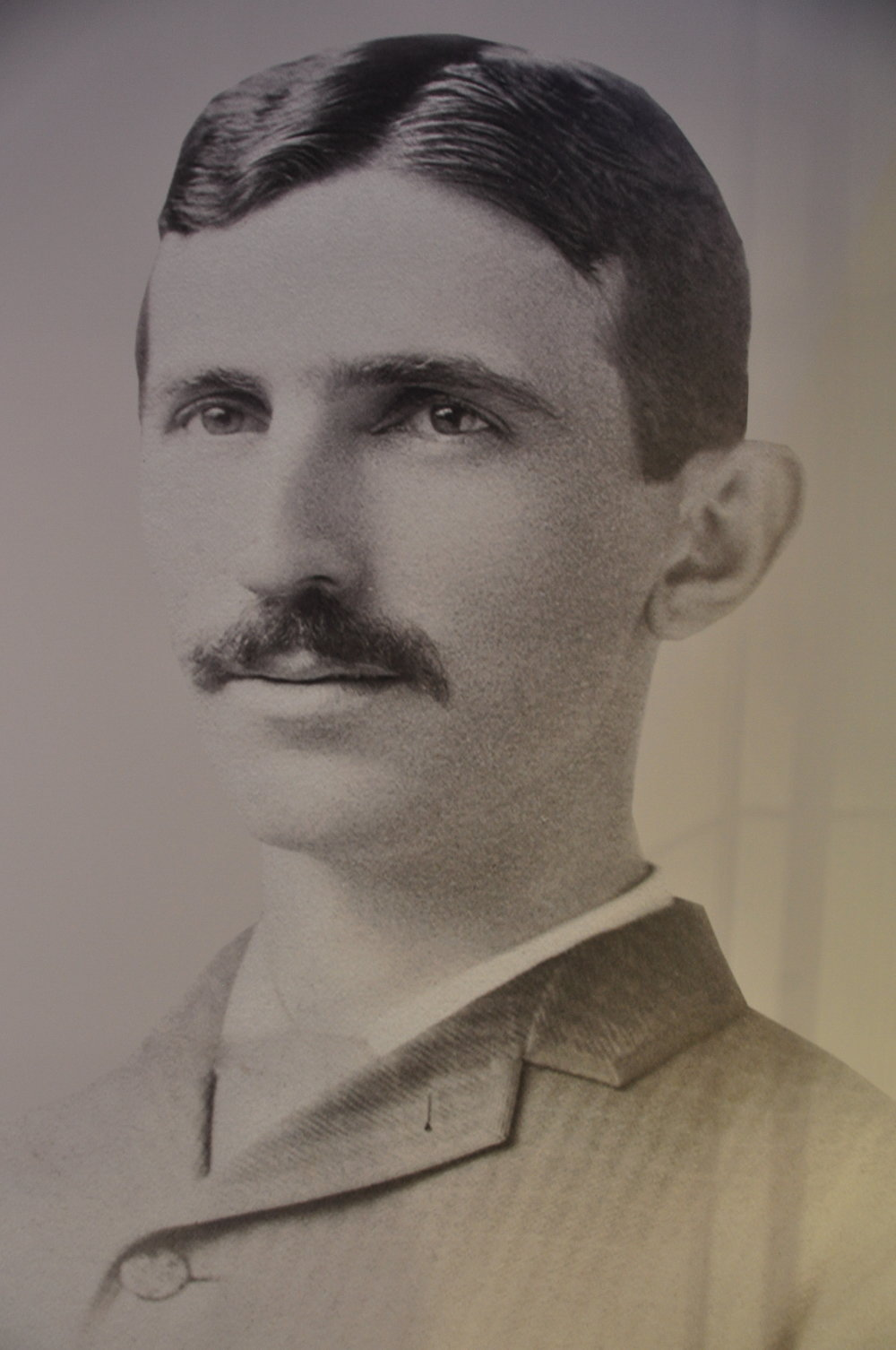 A portrait of Tesla at the Nikola Tesla Museum, Belgrade