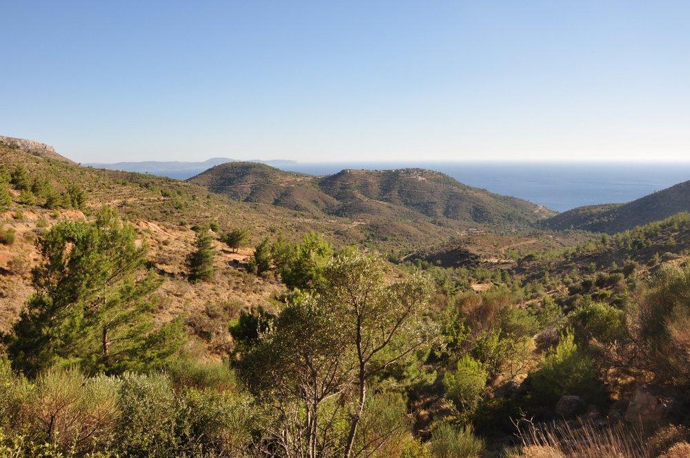 Chios' dry landscape