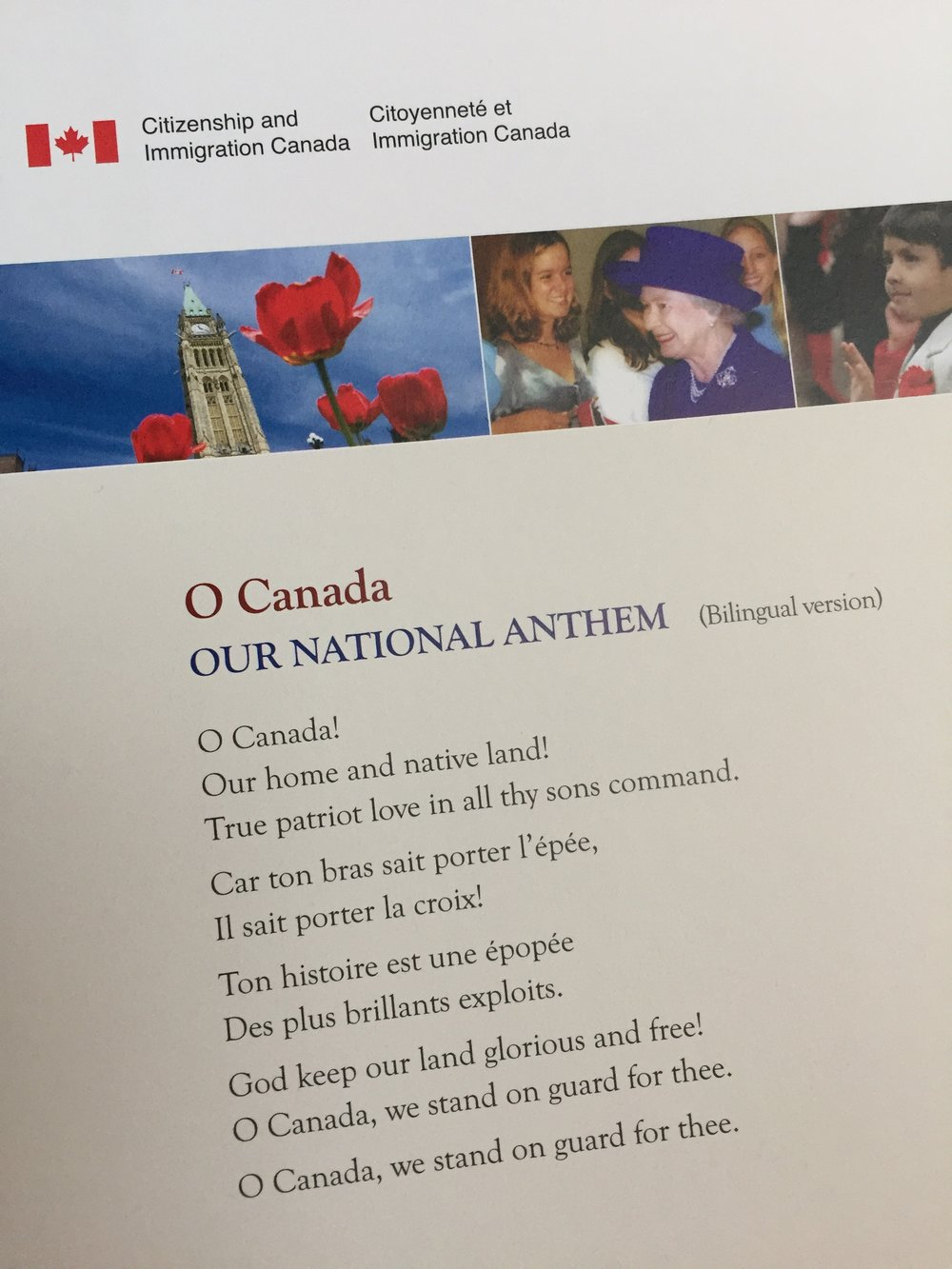 Canada's national anthem