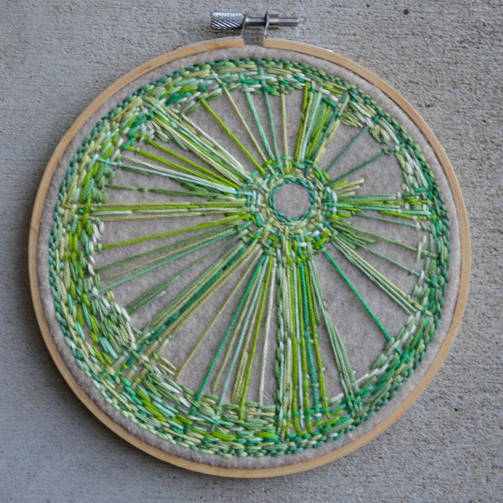 Untitled (green vortex)