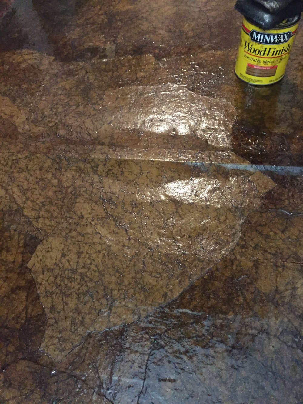 Paper Bag Floor Staining Process