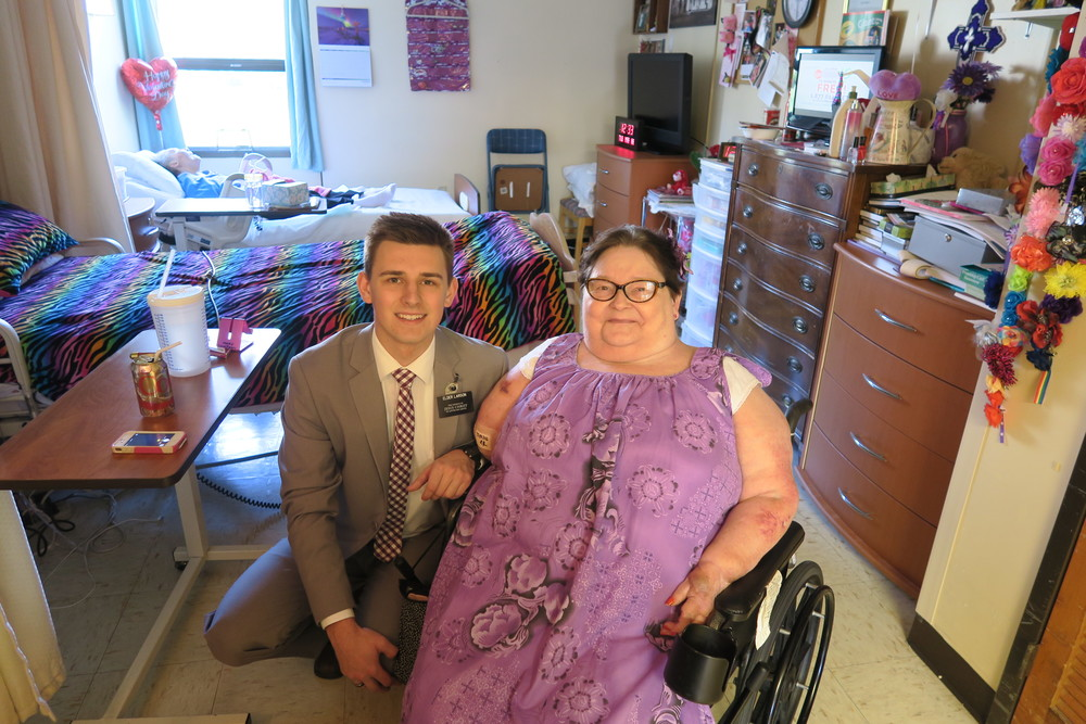Elder Larson got to go and see Mama Mary where he first learned to LOVE Bingo!