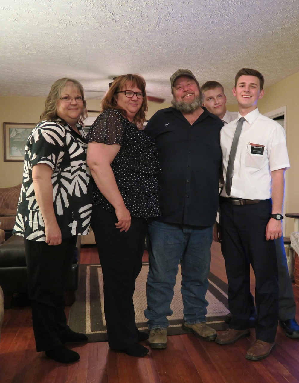 Elder Larson, Elder Thalman, Big T, Kendra and Cindy