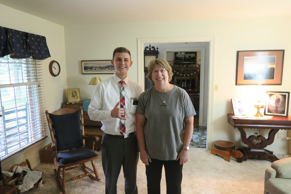 Elder Larson & Marti (his aunt's friend)