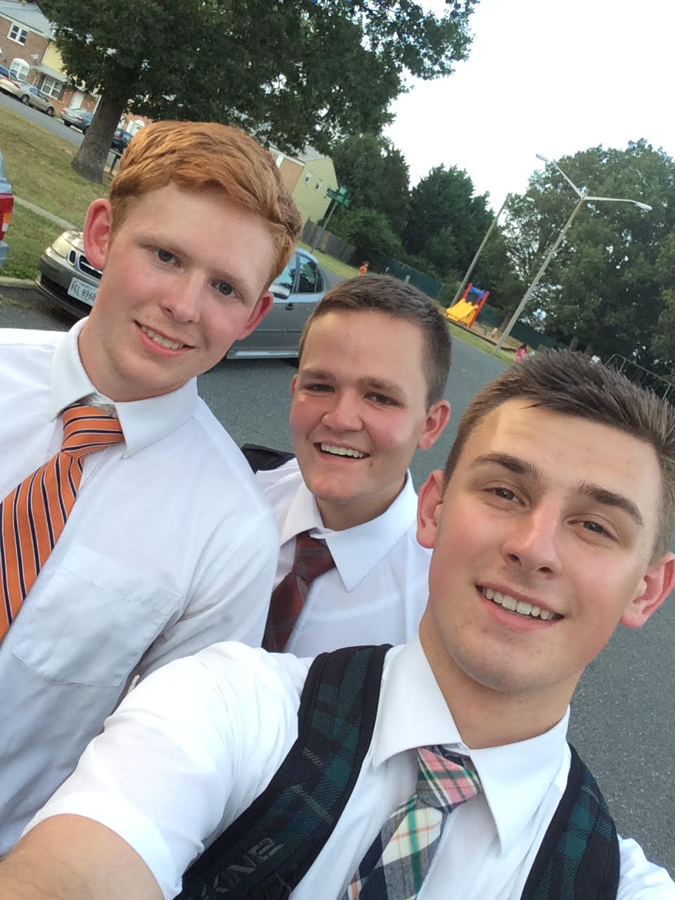Left to Right: Colin, Elder Maedgen, Elder Larson