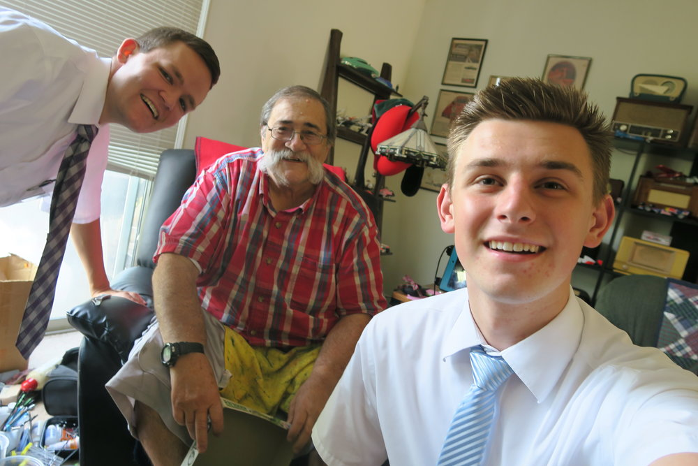 Left to Right: Elder Maedgen, Dell, Elder Larson