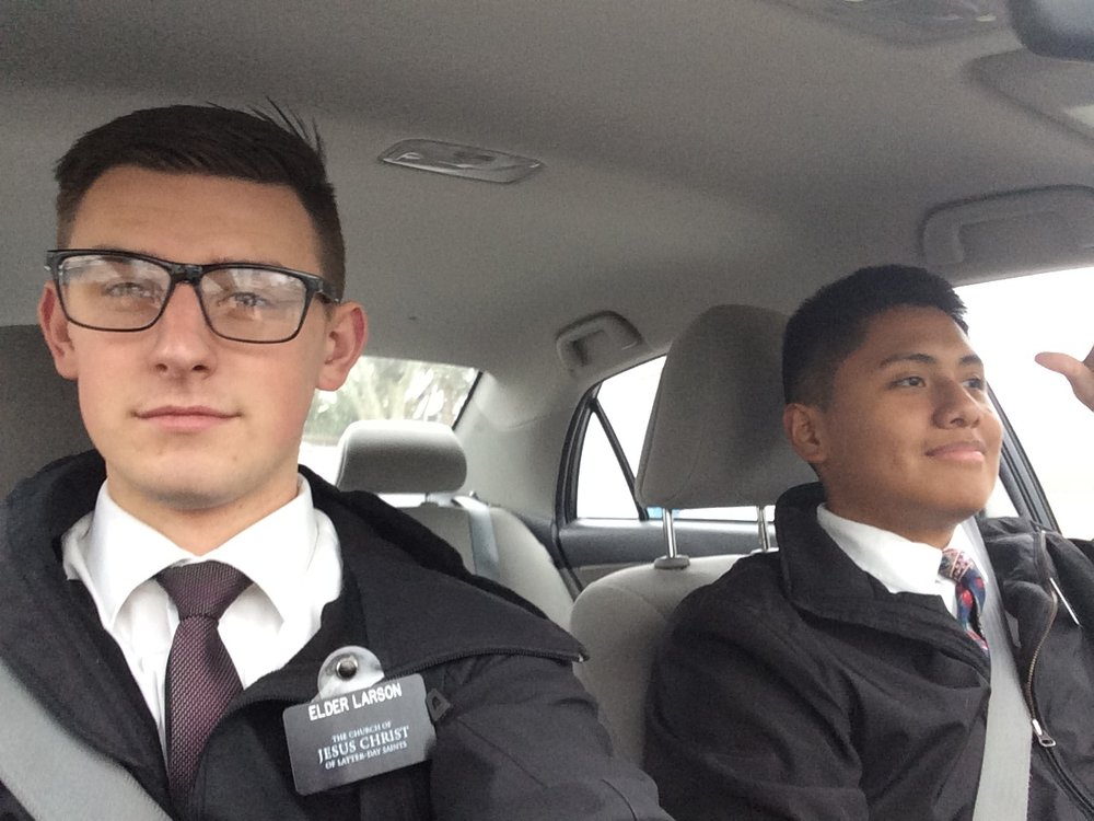 Elder Larson and Elder Esquedero