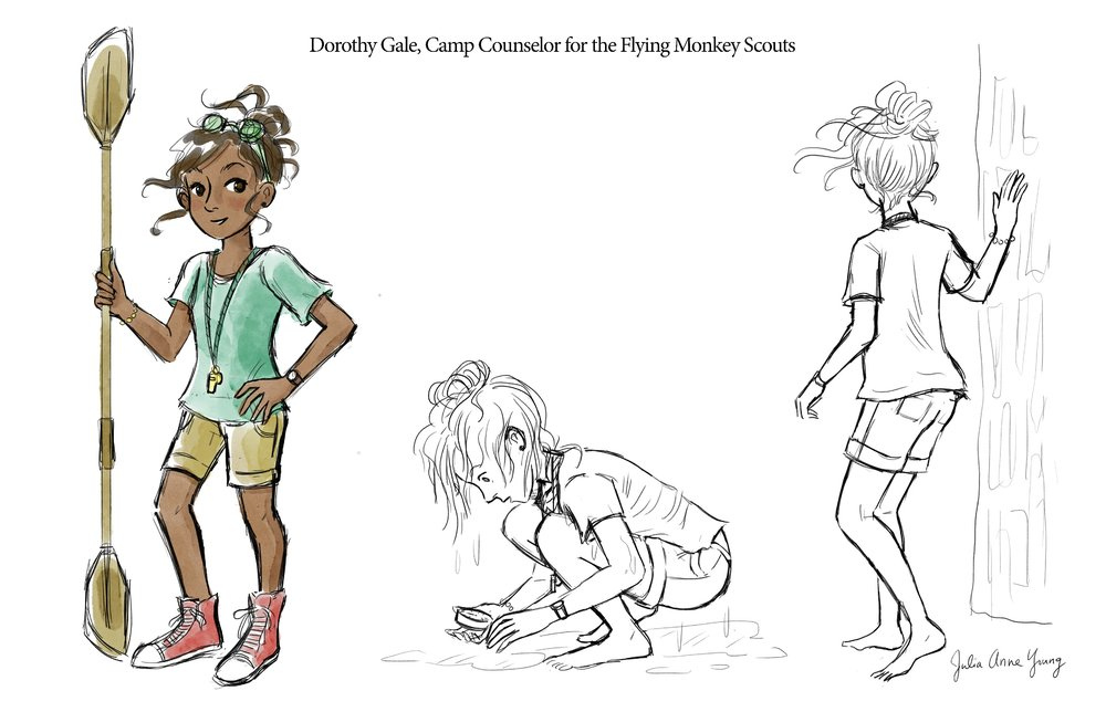Character studies for a middle grade novel concept.
