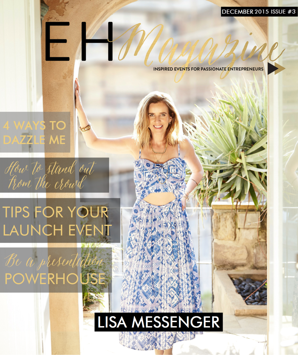Lisa Messenger EHM Cover Issue #3 Event Head