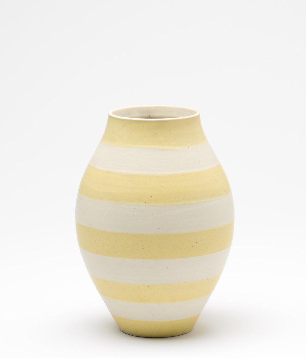 striped vase, cone 9 oxidation porcelain