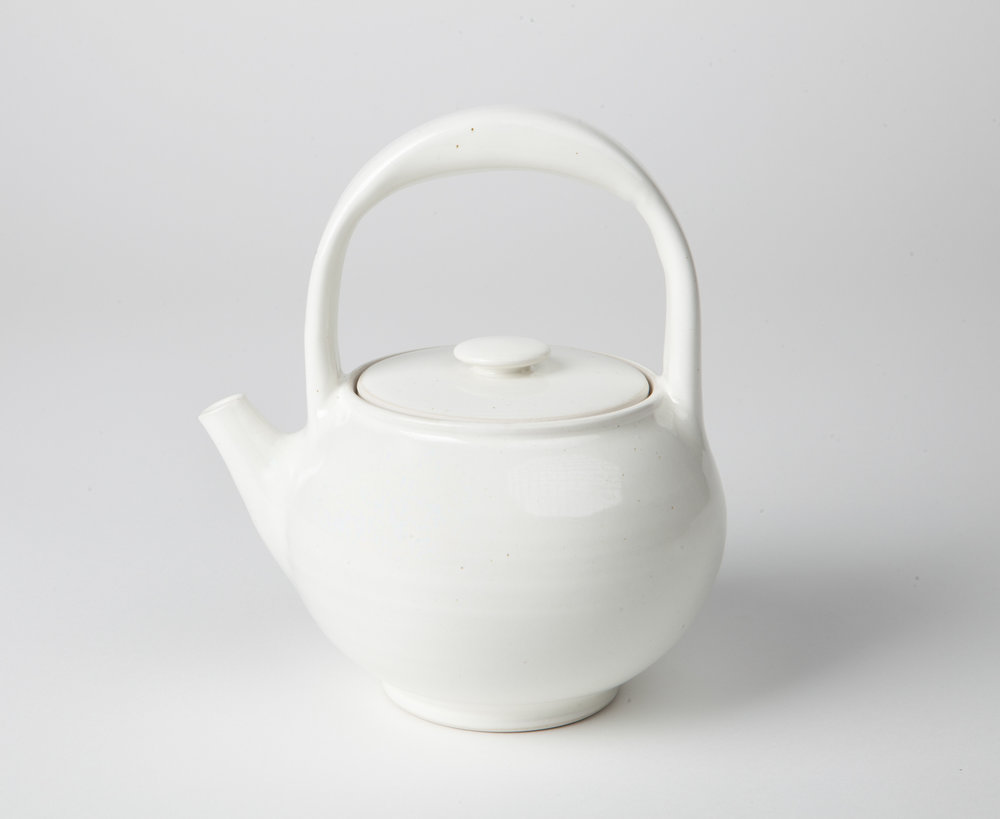 teapot, cone 9 oxidation porcelain