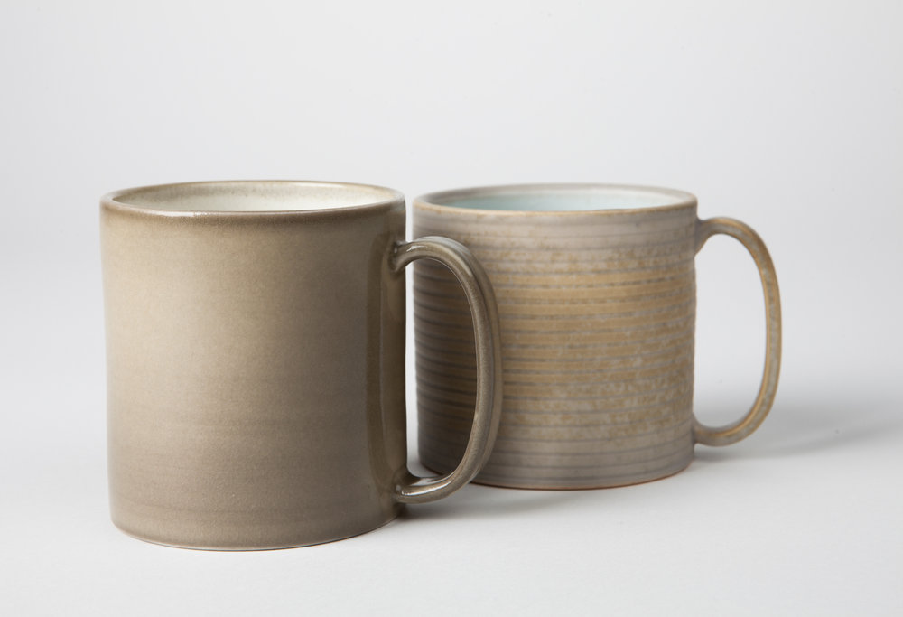 mugs, cone 9 reduction porcelain