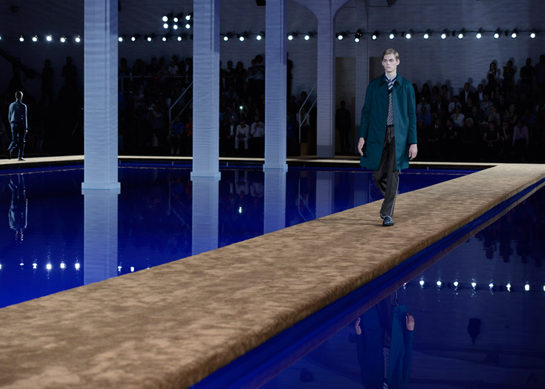 Prada s/s menswear show set designed by AMO. Source: dezeen
