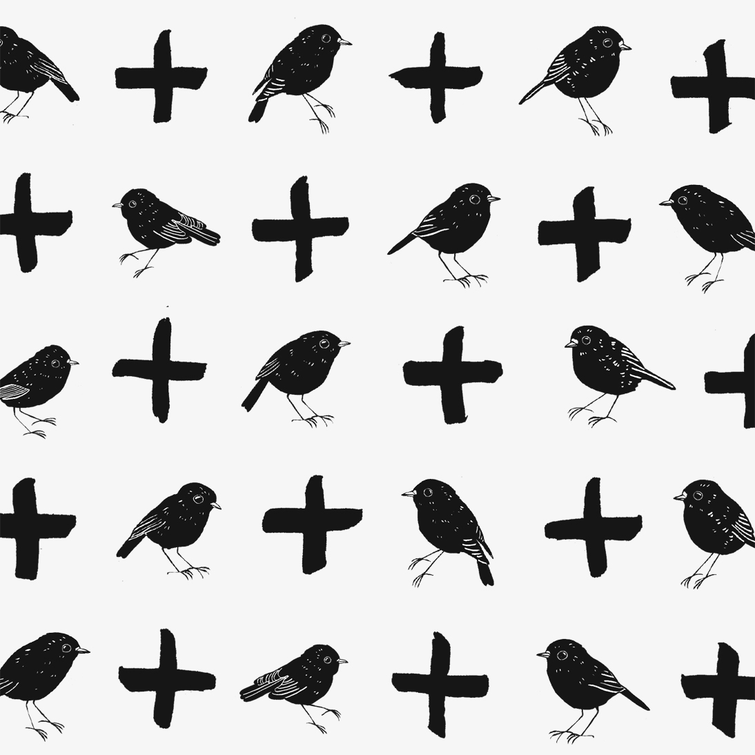 bird plus bird pattern