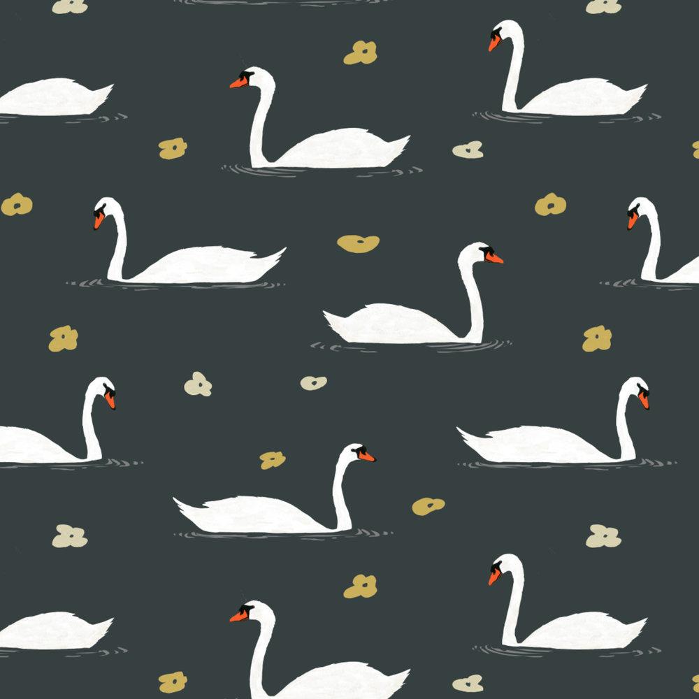 white swan pattern