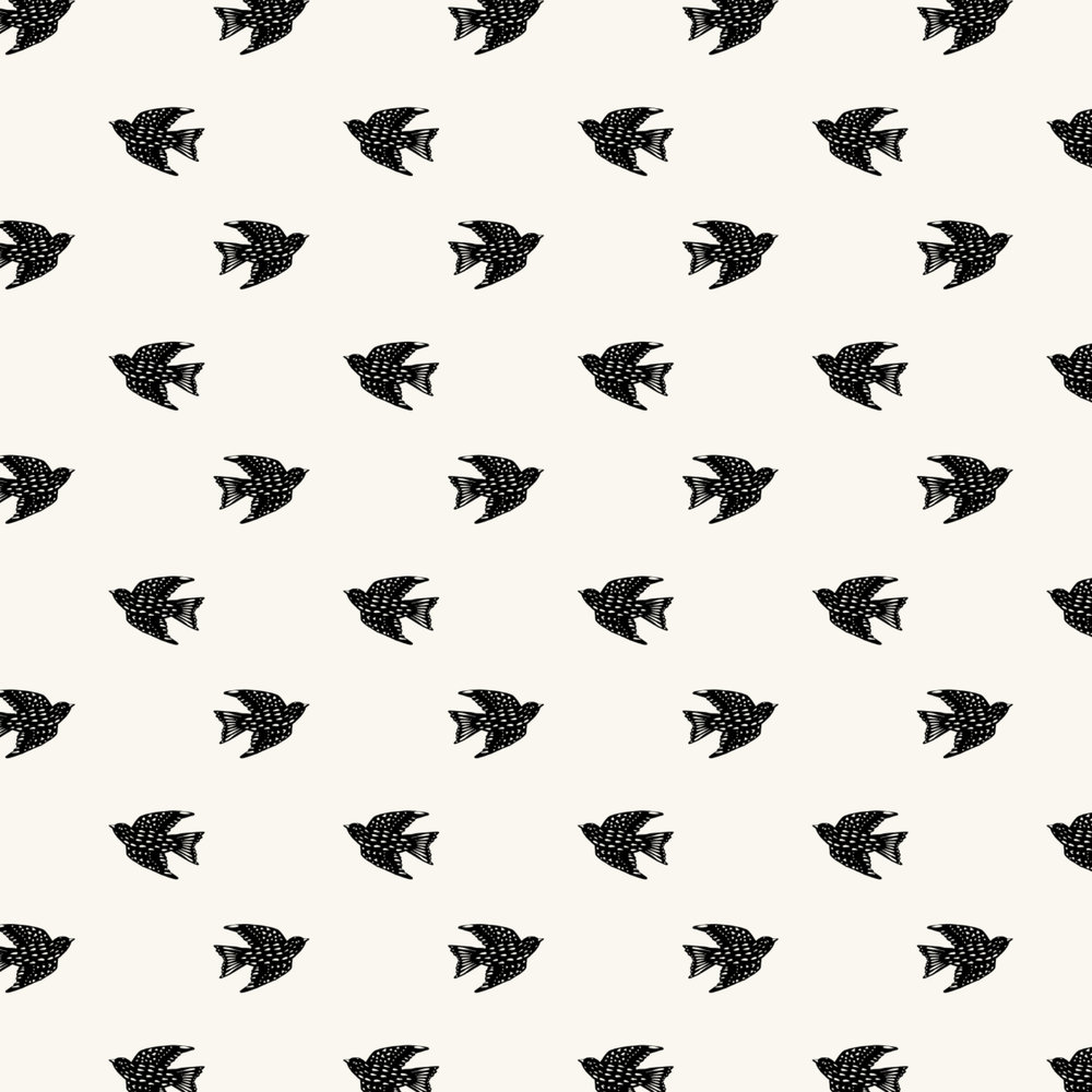 folk bird pattern
