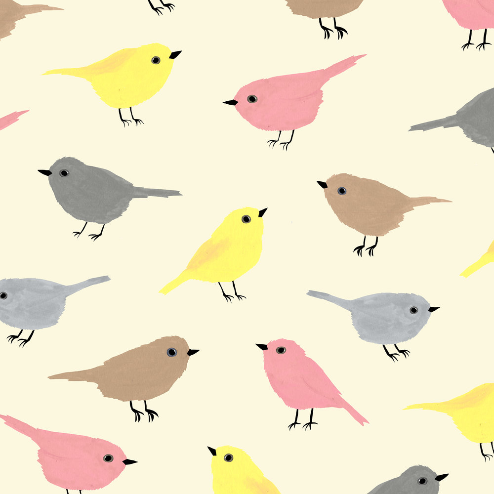 tiny birds pattern