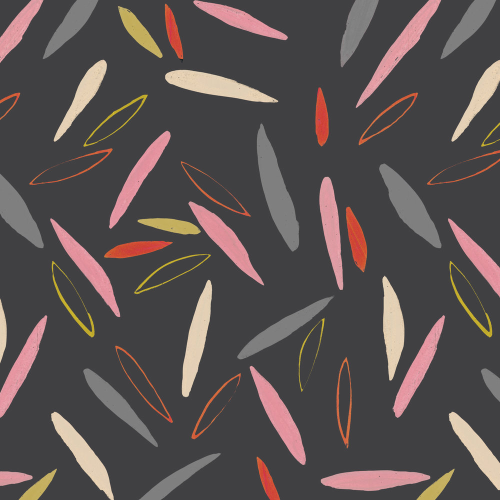 coloured leaves pattern