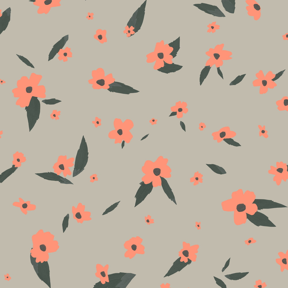 scattered flower pattern