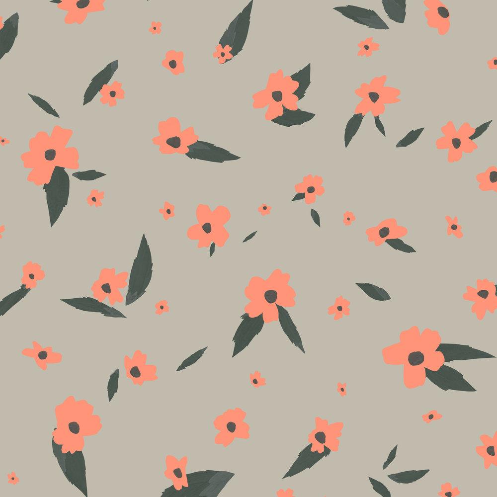 scattered flower pattern