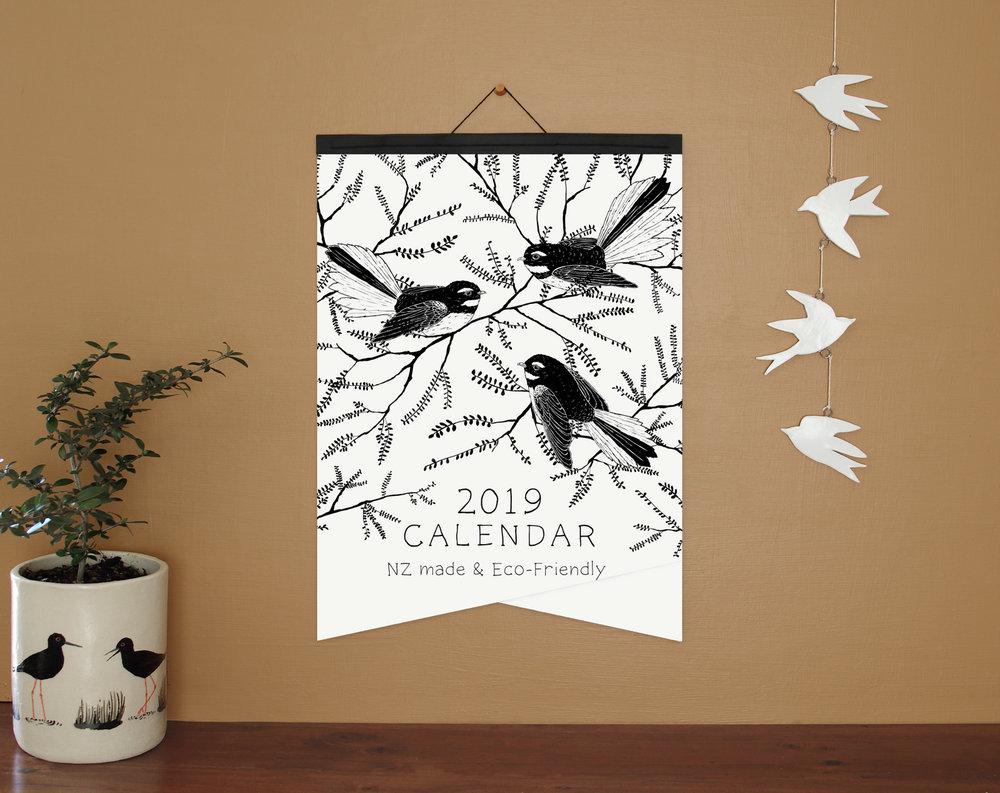 A3 calendar - with paper binding option.