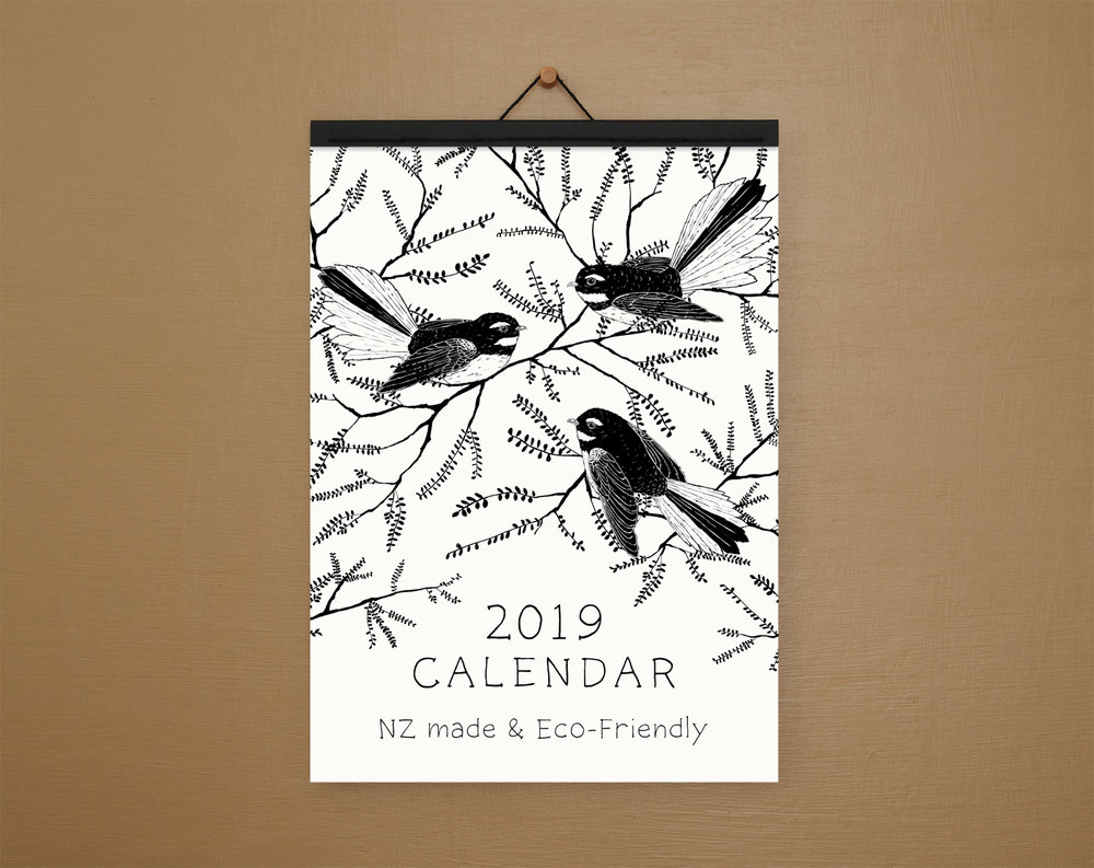 A4 calendar - with paper binding.
