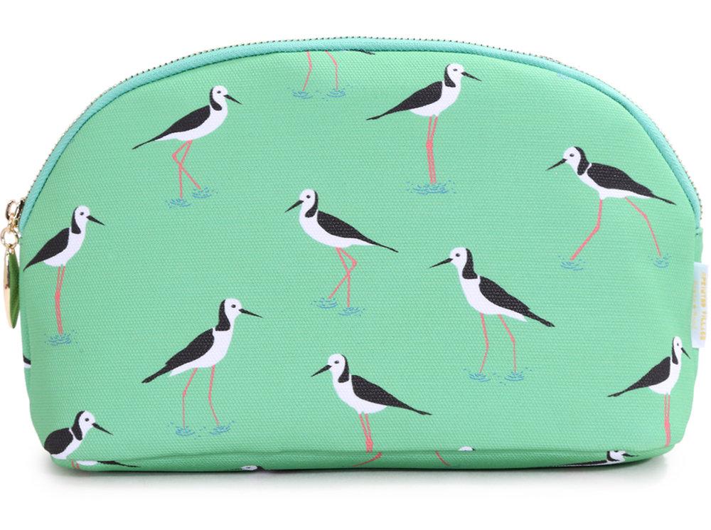 melissa boardman wading birds cosmetic bag