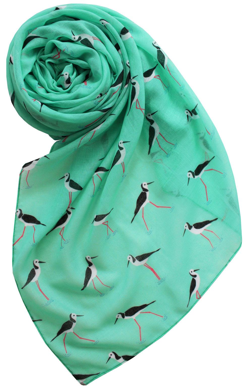 melissa boardman wading birds scarf