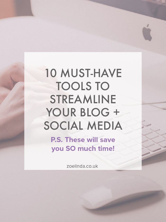10 Must-Have Tools To Streamline Your Blog + Social Media | These top tools are perfect for bloggers, creatives and entrepreneurs who are looking to streamline their blog and social media! Click through to find out the best tools to use to master productivity and boost your blog!