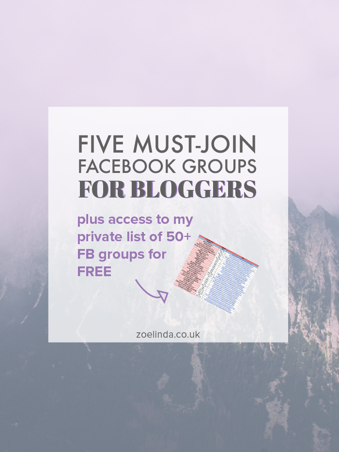 Five Must-Join Facebook Groups for Bloggers | Get involved with likeminded bloggers with these must-join Facebook groups! This guide is perfect for new bloggers or veteran bloggers. Click through to find out more and get your free download of 50+ groups to join for blog + business owners!
