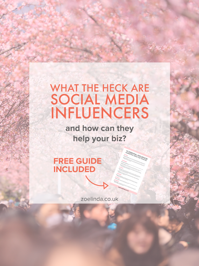 Influencer Marketing 101: What is a 'Social Media Influencer' and How Can You Work With Them? | With the rise of social media comes the avalanche of social media influencers. Replacing traditional celebrities and reinventing the meaning of edorsement and affiliate marketing, influencers are taking the internet my storm. Read my influencer marketing 101 guide to find out how to use influencers strategically for your small business. Don't forget to save this pin for later and grab your free guide to essential inflencer marketing ideas for your biz!