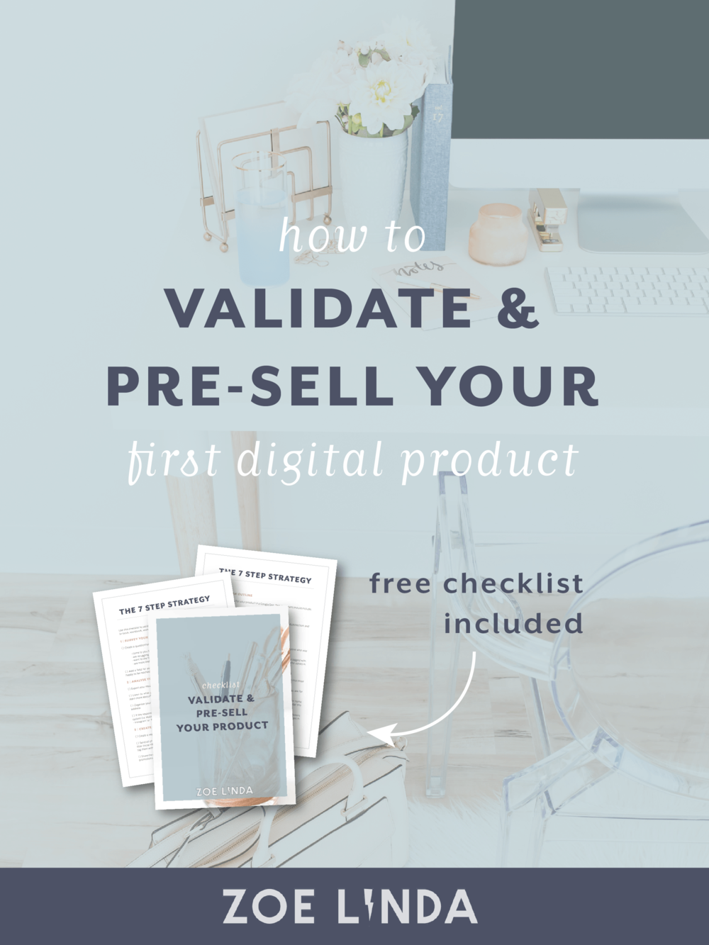 How To Validate And Pre-Sell Your First Digital Product | Do online course launches make you want to tear your hair out? Digital product and infoproduct creators and creative entrepreneurs can use this simple strategy to validate, pre-sell their products and sell more online. Click through to learn more and download my free checklist!