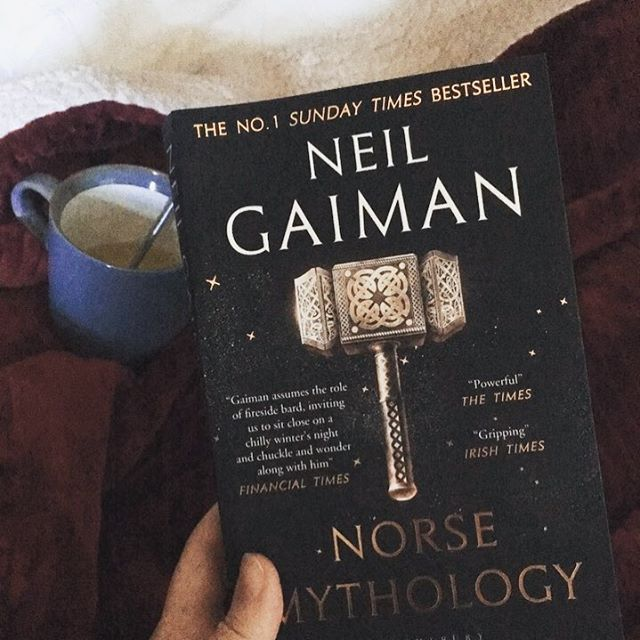 """📚 What do you like to read to get back into yourself? . When I'm in a slump or feeling creatively """"challenged"""", I like to realign myself with my true interests and passions. So, I'm taking a step back from business and personal development books to read some good ol' Norse Mythology (retold by Neil Gaiman)! . P.S. Did this question even make sense? It worked in my head but I'm not sure I've articulated it well 😂 . P.P.S. Did you know the Norse Myths actually started in Germany?"""