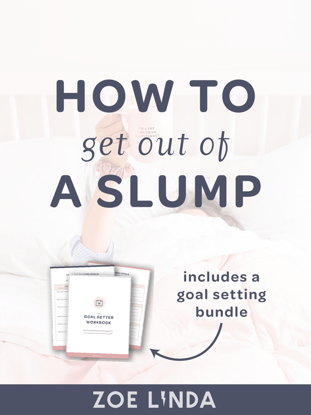 How to Get Out of a Slump | Getting into a slump when you really want to be a productive can suck. Whether it's business related or personal, I have some helpful tips for you in this blog post! Click through to read my tips on how to get out of a slump and grab your FREE goal getter bundle! This blog post is perfect for online business owners, workaholics, and professional bloggers!