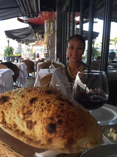 HEAVEN ON EARTH - HOT, FRESH BREAD AND RED WINE
