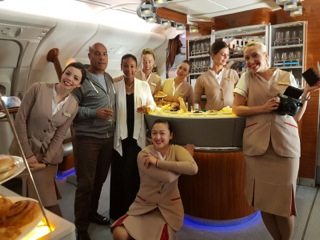 The Emirates Airlines flight attendants gave the most exemplary service