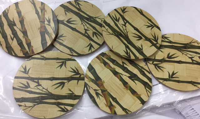 Wooden 'Bamboo' Coasters (set of 6) - $985 Craft Cottage