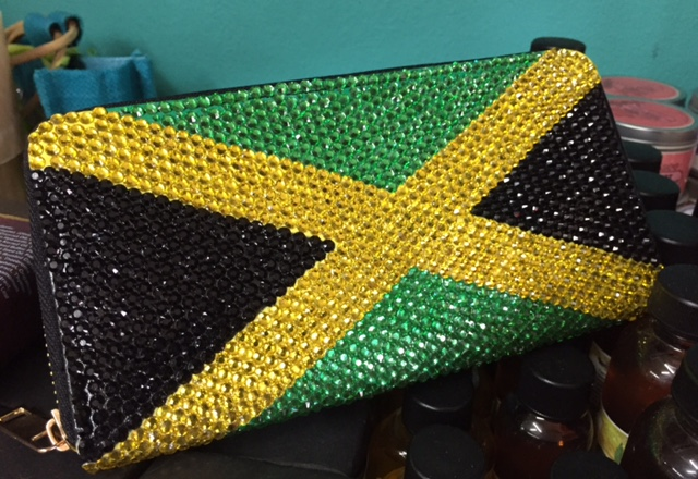 Jamaica Flag Crystal Purse - $2625 Craft Cottage