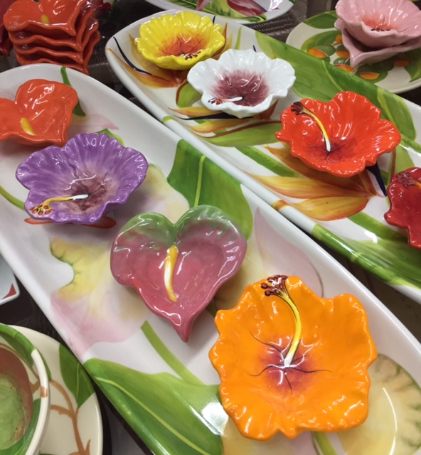 Tropical Flower Dish - $1925 ea Craft Cottage