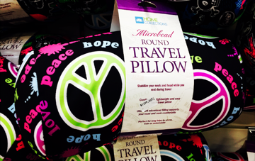 'Peace' Travel Pillow - $1299 Megamart