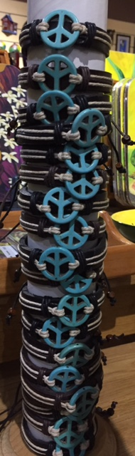'Peace' Leather Bracelet - $600 ea My Jamaica