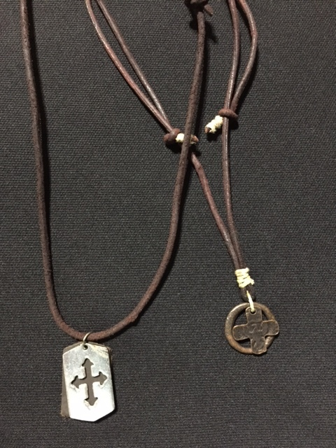 Leather Dog Tag Necklace - My Jamaica - $820