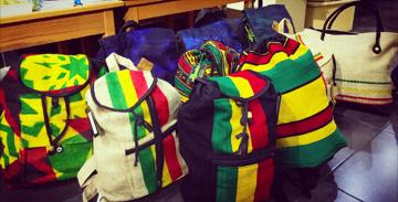 Asstd. Burlap Knapsacks - My Jamaica - $2600