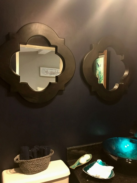 Why go with one when you can have two? Cluster mirrors of similar shapes to create impact