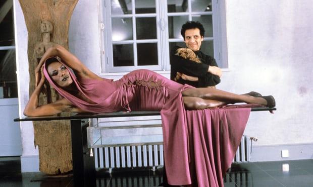Azzedine Alaïa with Grace Jones in 1985.