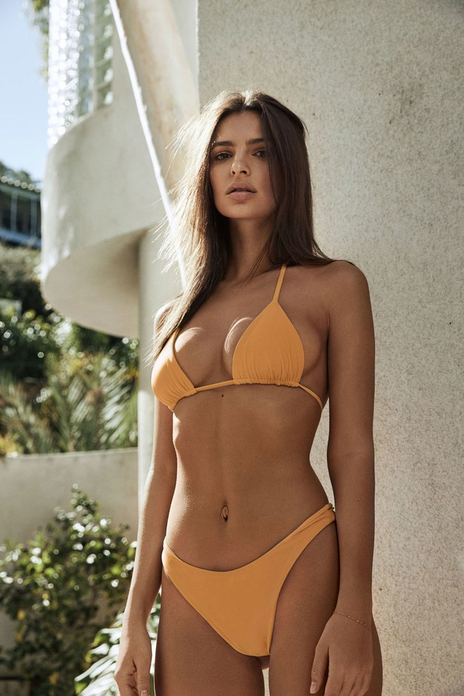Orpheus bathing suit in mustard yellow, $150