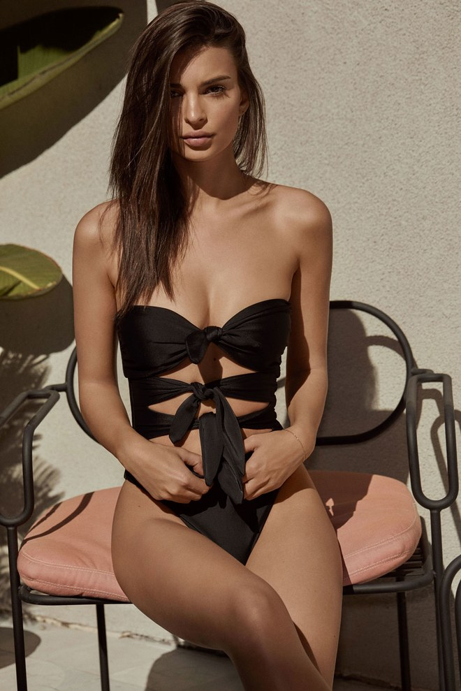 Cardiff bathing suit in black, $160