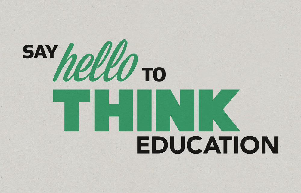 Think-Education-Logo-Typography-Design -Campaign