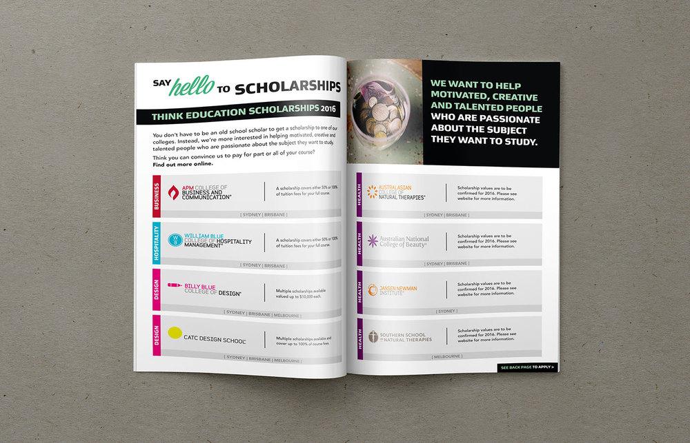 Think-Education-Design-Finished-Art-Brochure-Scholarships-Spread